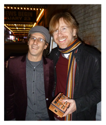 Trey Anastasio & Trey Blanke outside opening night of Hand on a Hardbody Musical