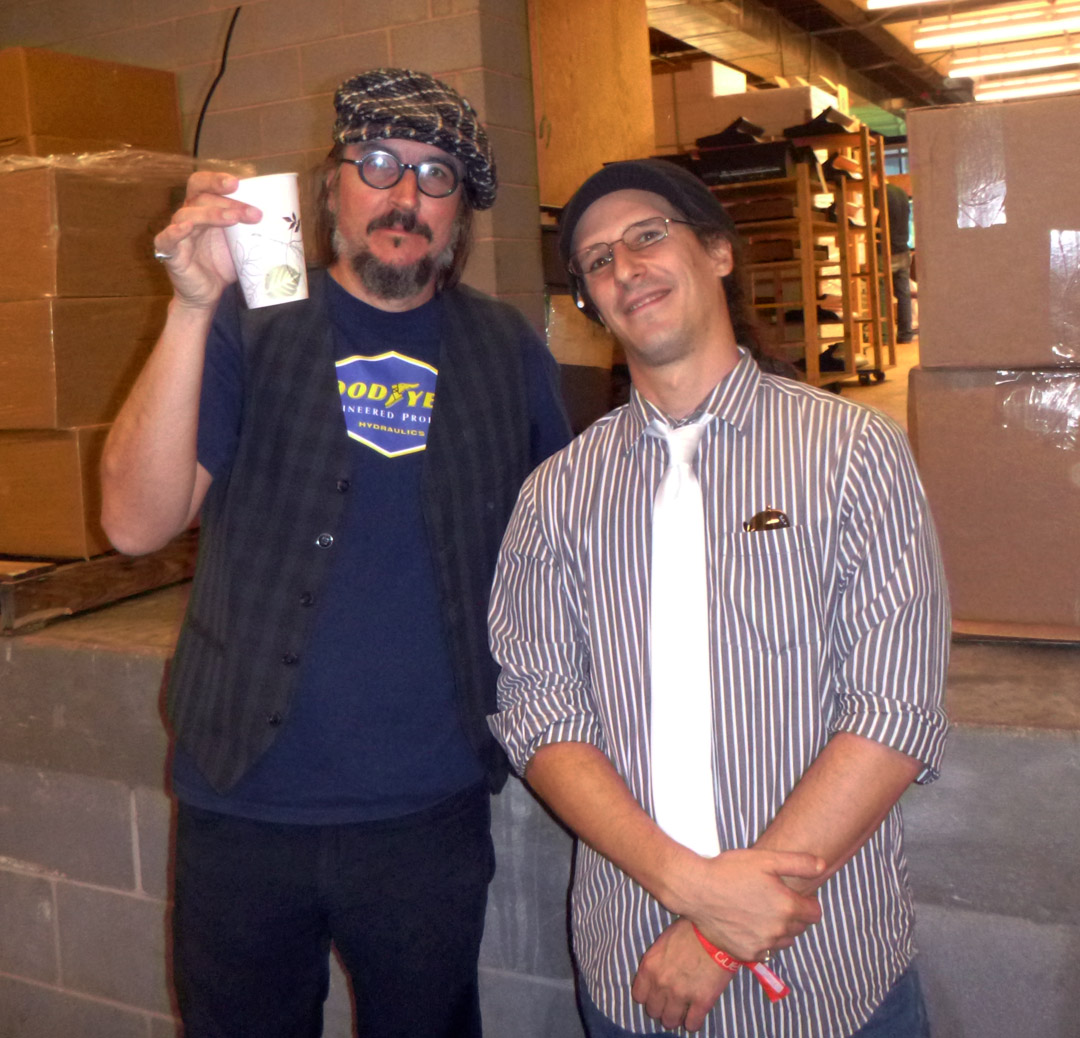 Dr. Blankenstein and Les Claypool of Primus in the Moog Factory at MoogFest 2012