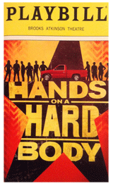 Hands On A Hard Body the Musical Playbill