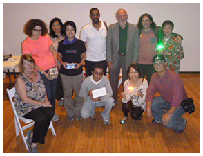 Herb Deutsch at Drew Blanke Queens Museum Circuitry Class Photo New New Yorkers
