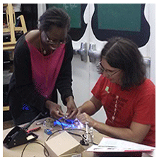 Dr Blankenstein and Mellissa Inniss Circuit Bending at Queens Museum