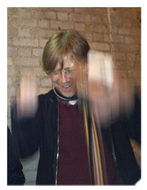 Trey Anastasio showing fans outside Hands on a Hard Body premiere how to be a Jedi