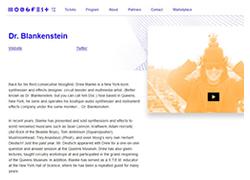 Drew Blanke Dr Blankenstein Moogfest 2016 Website Profile