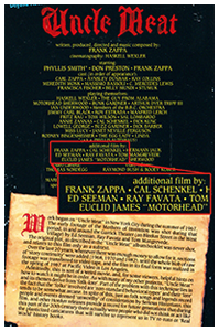 Ed Seeman Frank Zappa Uncle Meat Box Cover Back Credits